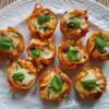 Tagliatelle pasta muffin nests