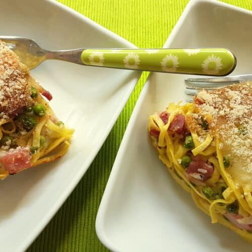 tagliolini pasta pie (crostata)
