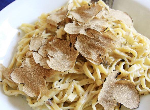 Tagliolini albesi with white truffles, Piedmont