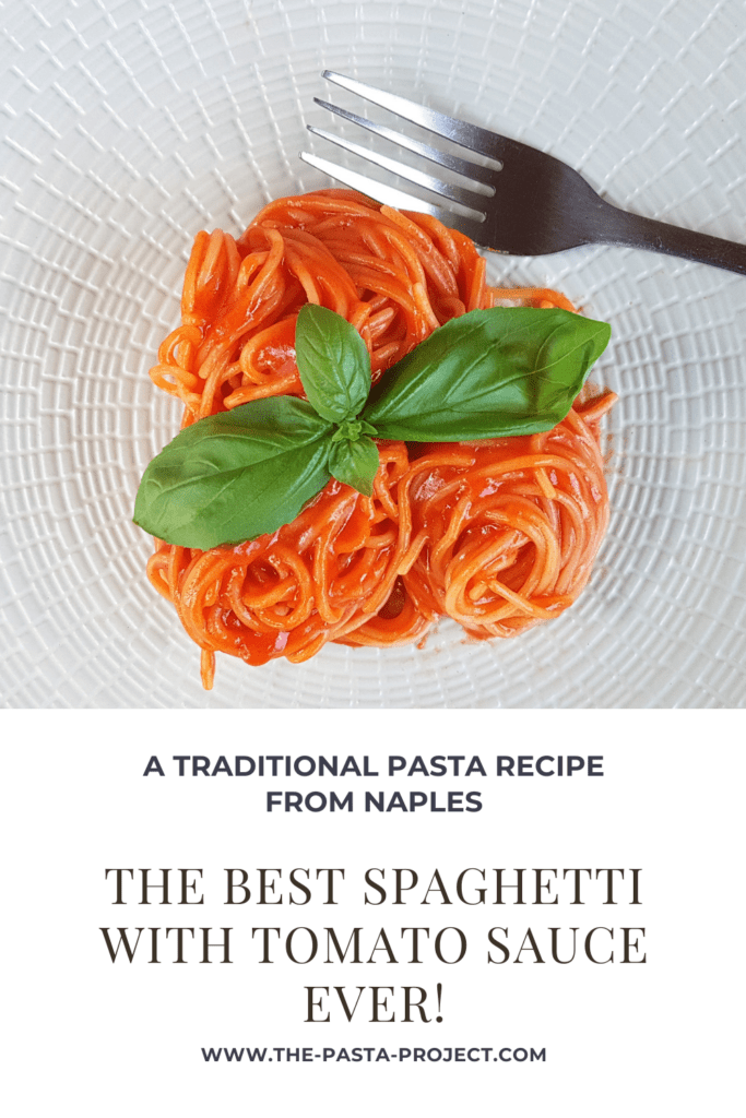 the best spaghetti with tomato sauce ever