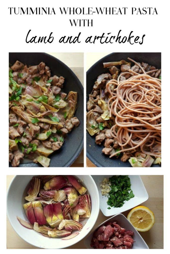 Tumminia Wholewheat pasta with lamb and artichokes