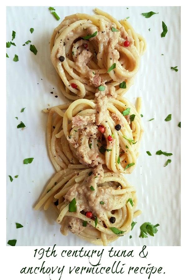 tuna and anchovy vermicelli pasta recipe