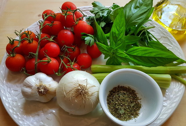ingredients for vermicelli di Positano recipe