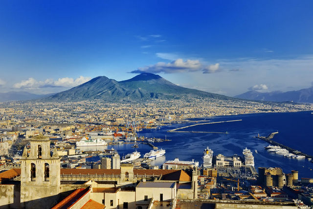 View of Vesuvius, Naples, Italy