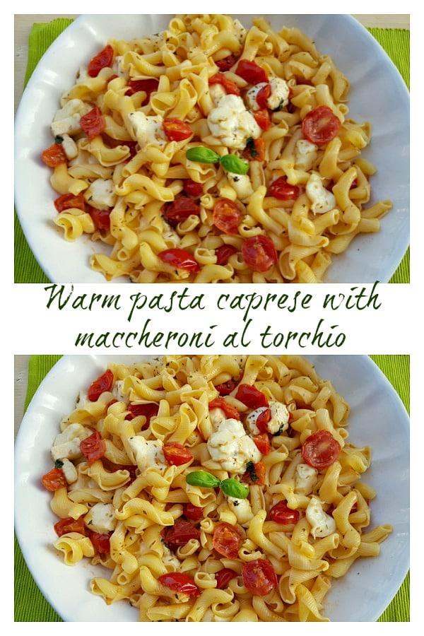 warm pasta caprese