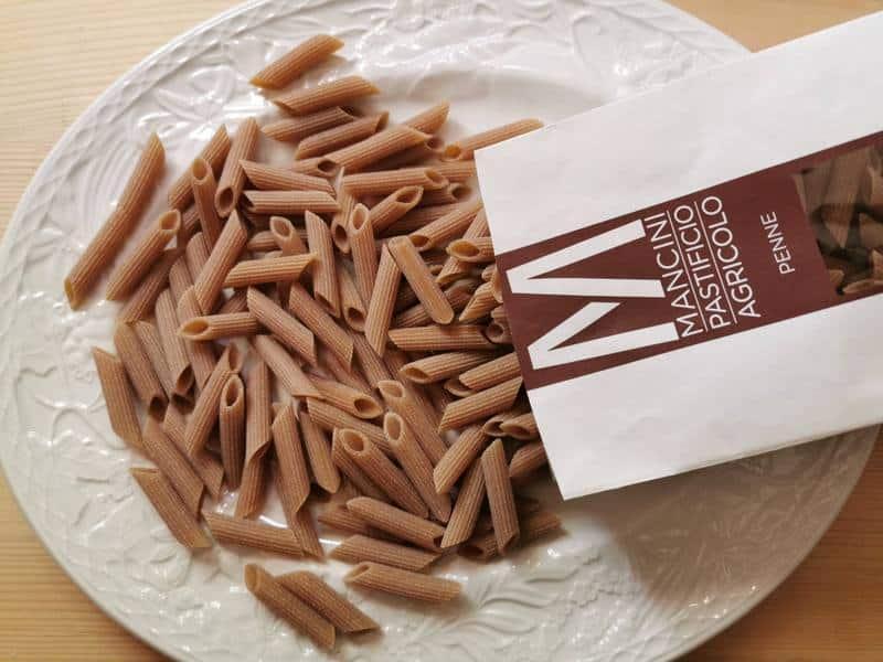 whole grain penne pasta by pasta Mancini